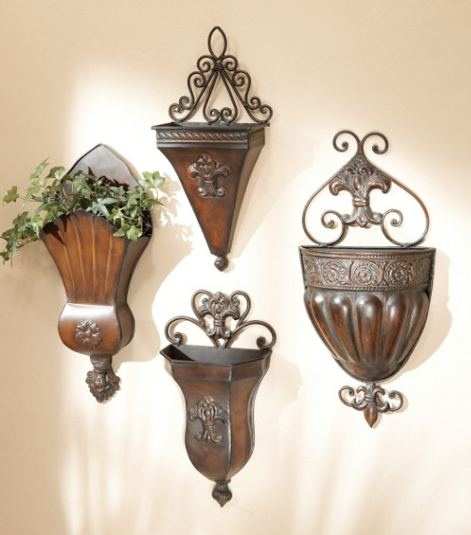 Wall Pockets. Perfect for floral arrangements or just ... on Wall Sconces For Greenery Decoration id=51062