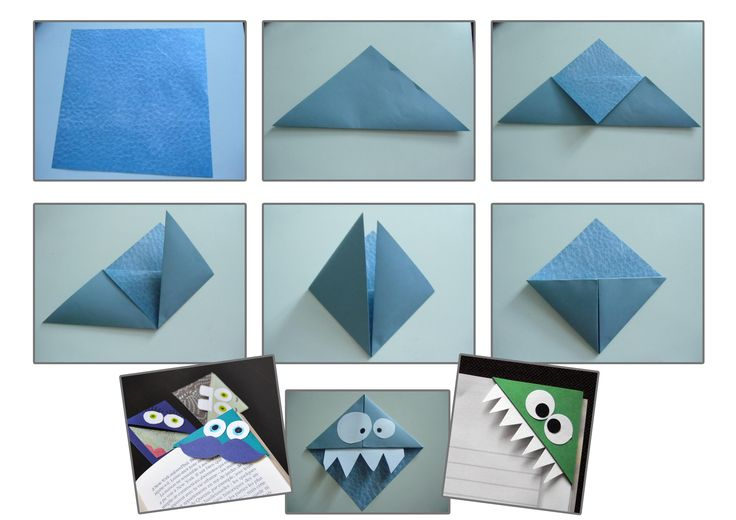 Tuto-origami-marque-page-monstre