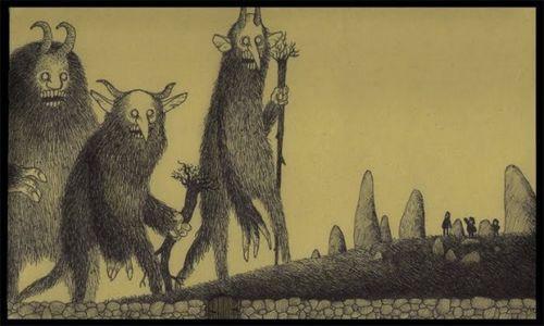 Image - Giant-monsters-boogie-men-scary-illustration-drawing-john-kenn-don-post-it-note-art.jpg – Creepypasta Wiki