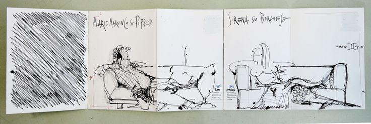 Swan / Layout per pieghevole divano Mario Marenco • by GattiCitterioSchuler