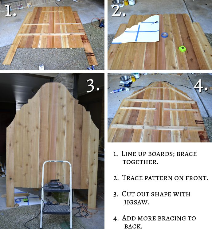 Cheap and Easy DIY Headboard Made From Cedar Fence Pickets