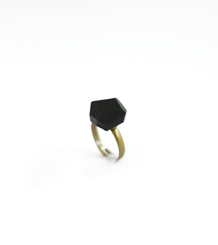 black geo ring by AMM Jewelry