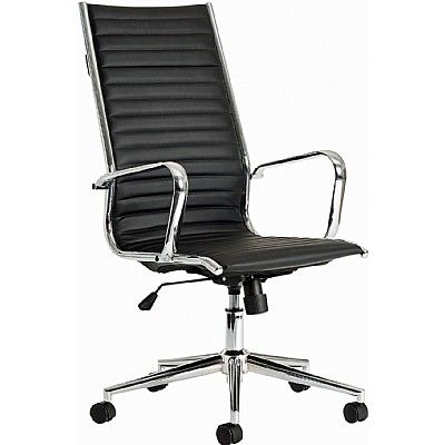 leather office chair no wheels. black faux leather executive conference chair office no wheels