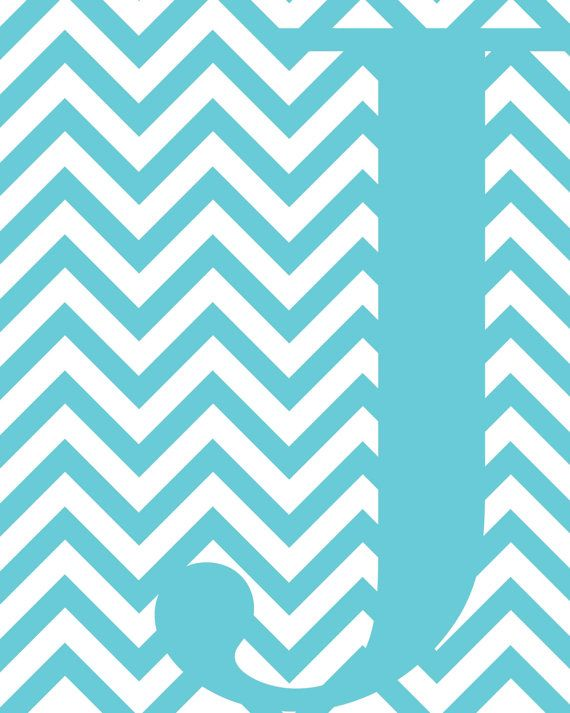 Blue Chevron J Monogram by MSherwoodDesigns on Etsy, $5.00 | My