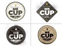 Mr. Cup Badges: Colors Combos, Fabien Barral, Logos Inspiration, Logos Design, Identity Design, Graphics Projects, Mr Cups, Www Graphics Exchange Com, Warm Grey