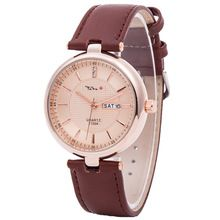 Top Luxury Brand TADA Japan Quartz Movement watches reloj masculino women Genuine Leather Strap Date Displaying Lady Watches(China (Mainland))