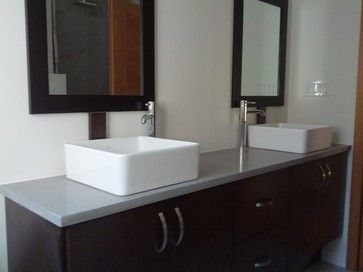Light Grey Quartz contemporary-bathroom