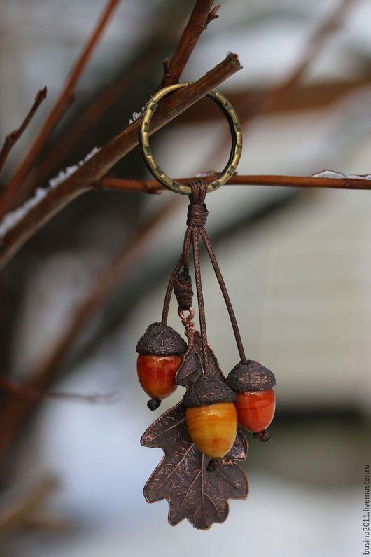 """Брелоки ручной работы. Ярмарка Мастеров - ручная работа. Купить Брелок для ключей """"Осенняя сказка""""-1. Handmade. Разноцветный, брелок"""