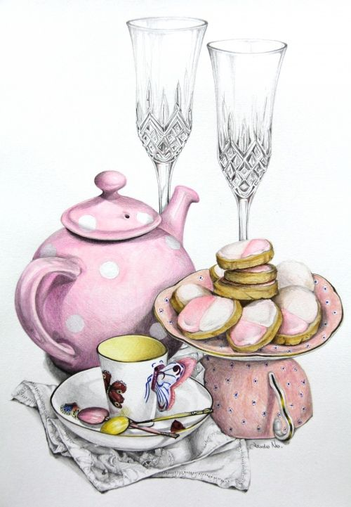 Pink Butter Biscuits recipe - Alexandra Nea