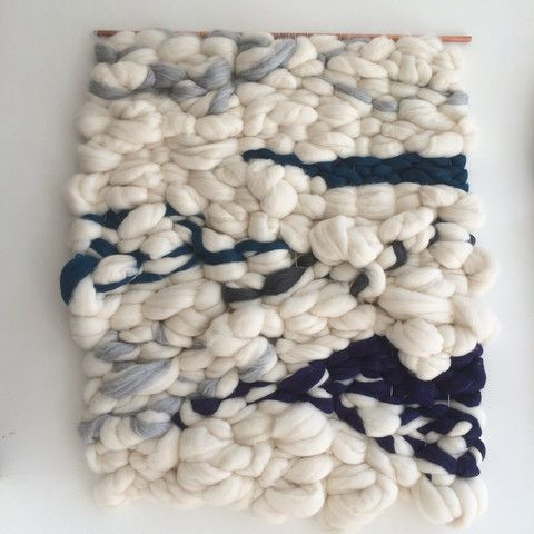 Wall tapestry woven from roving (sold at Verb for Keeping Warm for <$10/yard). Where to put it, since it'll collect dust?