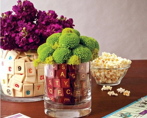 diy Wedding Crafts: Board Game Centerpieces - get inspired at diyweddingsmag.com