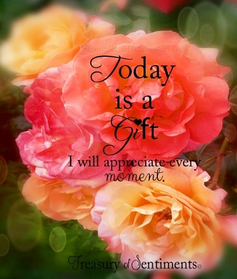 """""""Today is a gift"""
