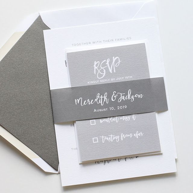 Customizable wedding invitation. Blush Paperie