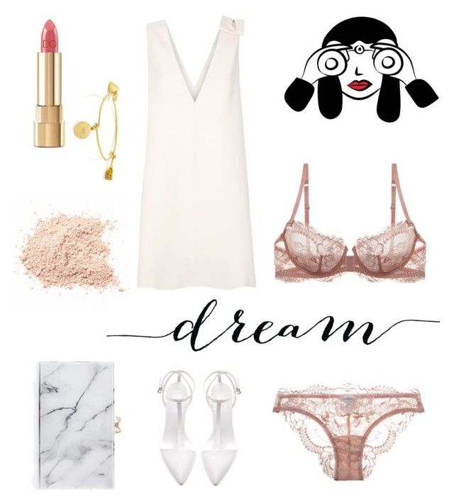 """""""see through"""" by weijin on Polyvore featuring Valentino, La Perla, Zara, Dolce&Gabbana, Charlotte Olympia and Kate Spade"""