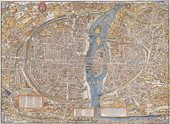 23 best vintage map downloads etsy images on pinterest antique paris map 16th century scanned version of an old original colored map of paris instant download in high resolution jpg item no 44 gumiabroncs Images