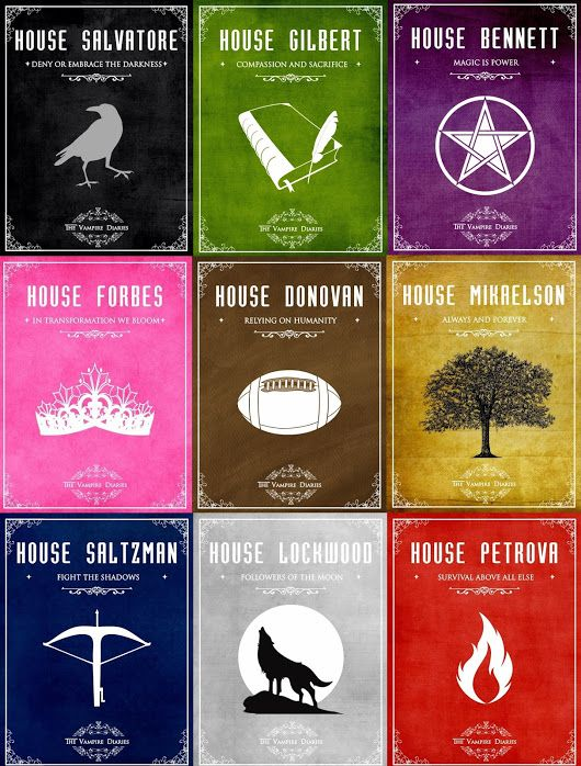 "Which of these house do you want to belong? #pickjustone A) ""Deny or embrace the darkness"" - Salvatore house B) ""Compassion and sacrifice"" - Gilbert hou... - Roberta De Simini - Google+"