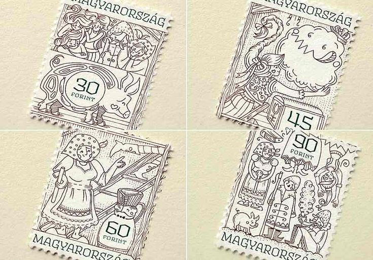 Amazing Stamp Design from Hungary