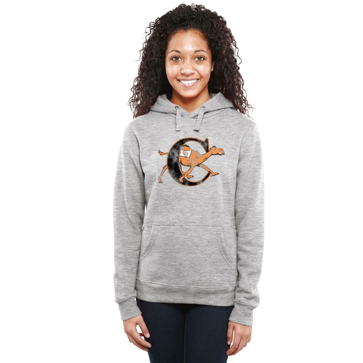 Campbell Fighting Camels Women's Classic Primary Pullover Hoodie - Ash - $64.99