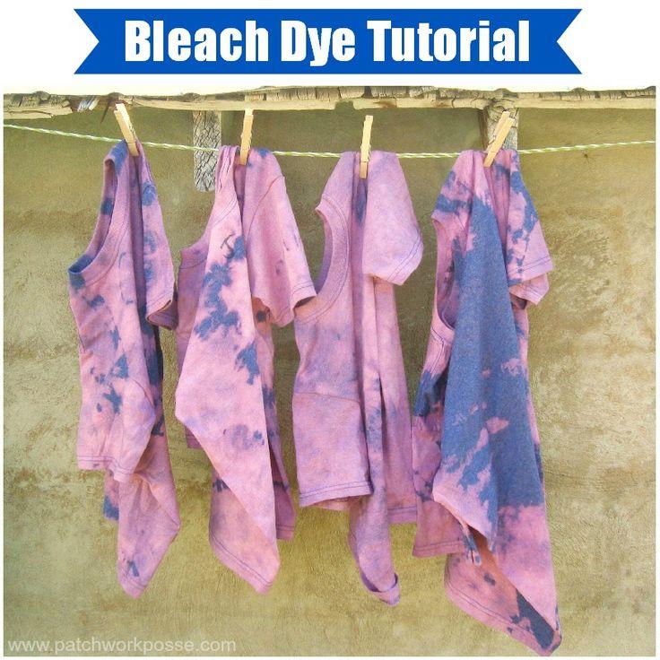 Summer Day Camp Bleach Tie-Dye Shirts |patchwork posse #tiedye