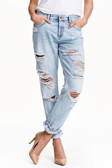 Boyfriend Low Ripped Jeans   H&M