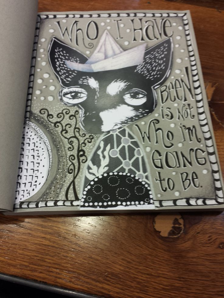 Black white journal page by christina lorraine young studioseena