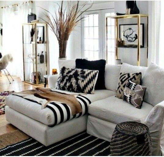 Black And Gold Living Room Images: Black N White Ethnic Color Schemes :)