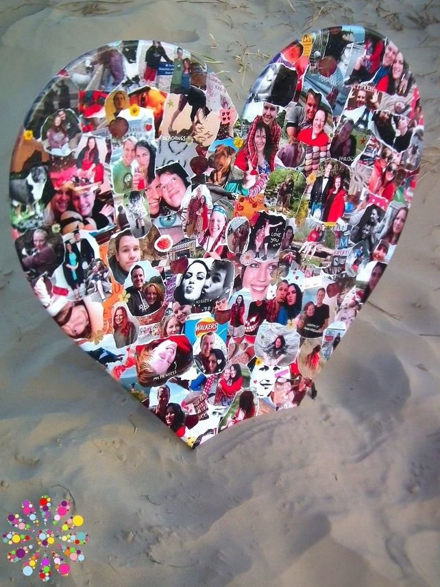 Personalised Decoupage Heart (Small)