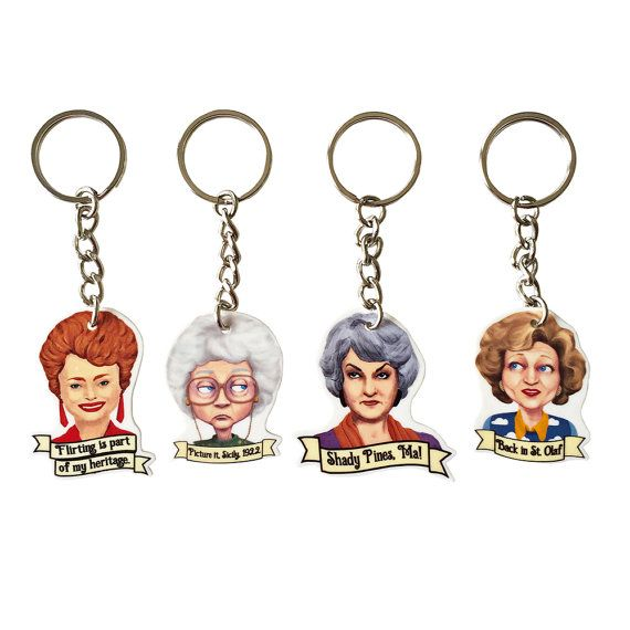Hey, I found this really awesome Etsy listing at https://www.etsy.com/listing/233640381/the-golden-girls-keychains-set