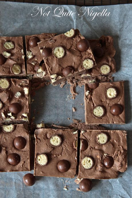 10 Minute Malteser slice by Not Quite Nigella