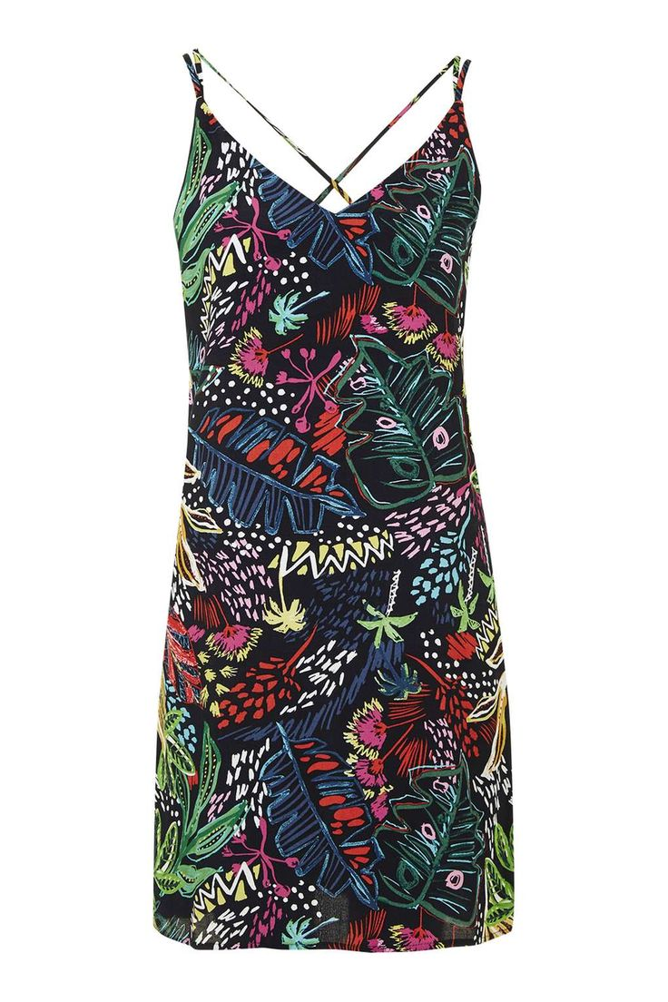 Jungle Print Slip Dress - Topshop