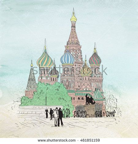 A Sketch Of St. Basil's Cathedral