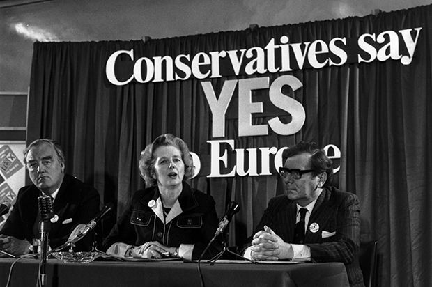 Yes, yes, yes: Margaret Thatcher campaigning before Britain's last European referendum in 1975