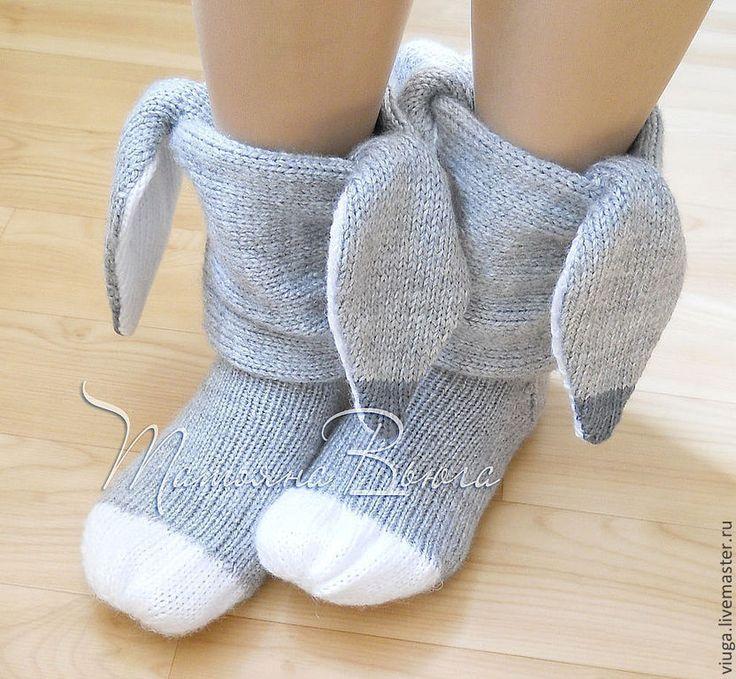 Картинки по запросу вязанные носки с ушами