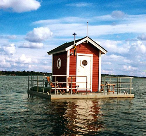Hotel Utter Inn, Sweden: At first glance, this one-room hotel appears to be a cheery red house in the middle of the lake. But don't be fooled: Your room isn't actually in the house; it's 10 feet underwater.