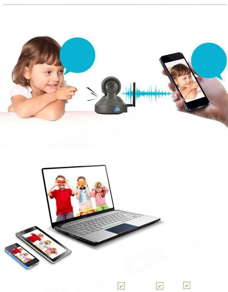 VSTARCAM C7837WIP 720P IP Camera w/10-IR-LED/Wi-Fi/TF -Black (EU Plug) - Free Shipping - DealExtreme