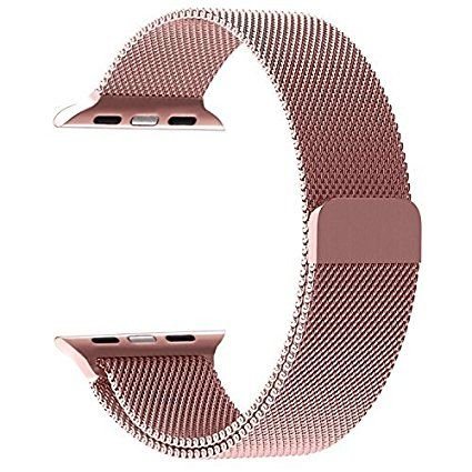 Apple Watch Band, Padgene 38mm Milanese Loop Stainless Steel Strap for Apple Watch 38mm All Models with Unique Magnet Lock, No Buckle Needed, Rose Gold Review 2017