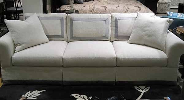 3600 Sofa By Burton James  Caballero Pearl Fabric @ Heritage Furniture  Outlet