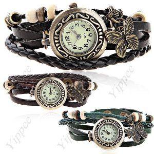 Stylish PU Leather Quartz Analog Wrist Bracelet Bangle Watch Wristwatch for Women Ladies  $7.00