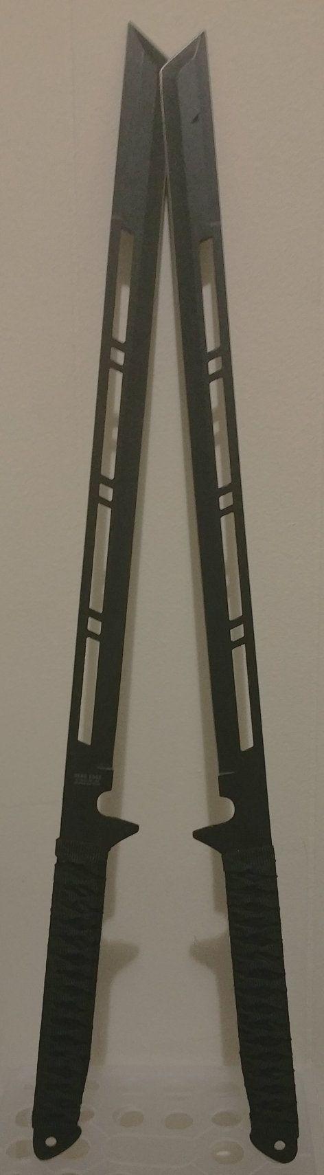 """Set of 2 Handmade Samurai Warrior Ninja 27"""" Katana sword Made of Razor sharp 440 Stainless steel blade"""