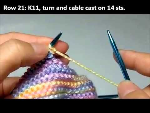 Knitting Basic Baby Booties - Part 2 - YouTube