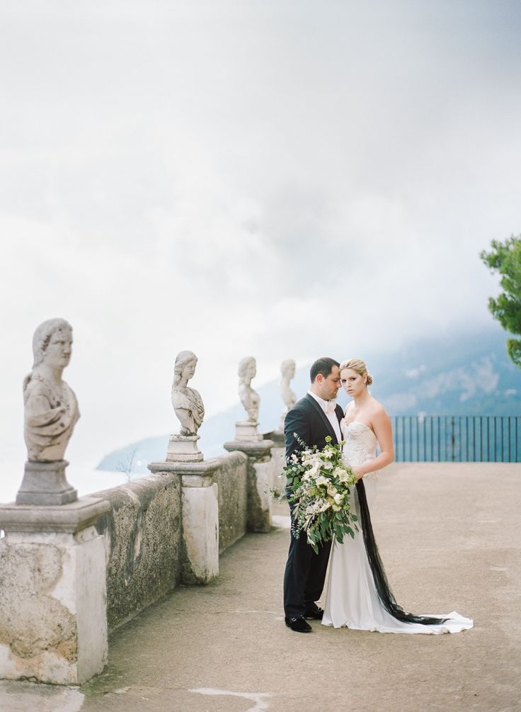 small intimate weddings southern california%0A A Glamorous Black and White Affair with the Best Ever Views of the Amalfi  Coast