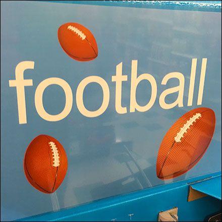 NFL Football Straight-Entry Hook Sales