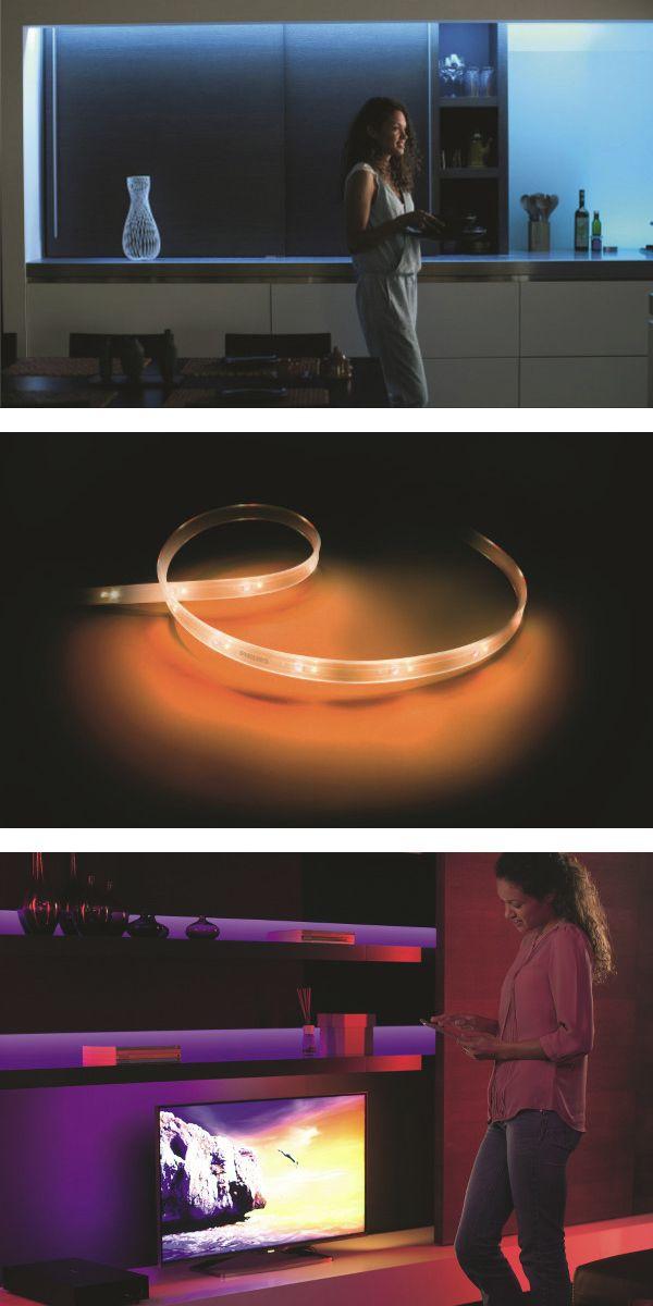 Philips Hue lighstrip plus, pour créer des ambiances lumineuses avec des bandes contrôlées par smartphone