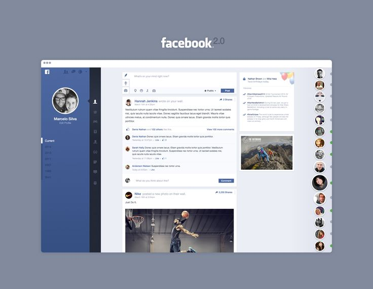 Full size facebook