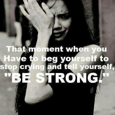 Im to tired to be strong.
