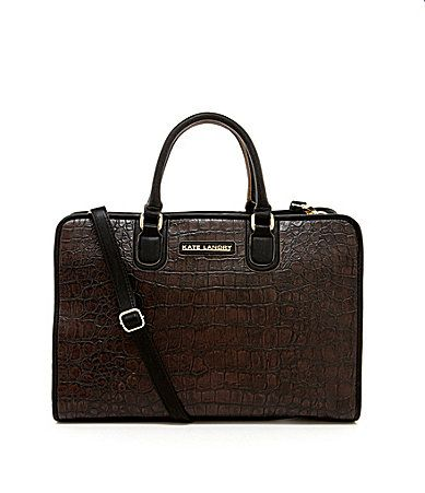 Kate Landry Boxed Croco Large Satchel #Dillards