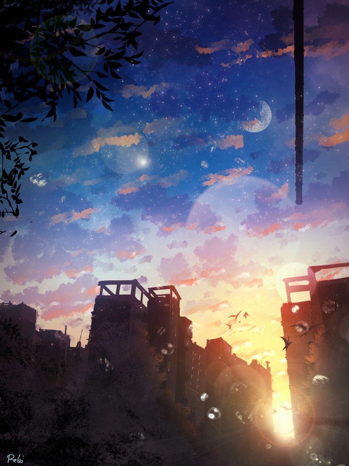 Best 25 anime scenery ideas on pinterest anime art - Portrait anime wallpaper ...