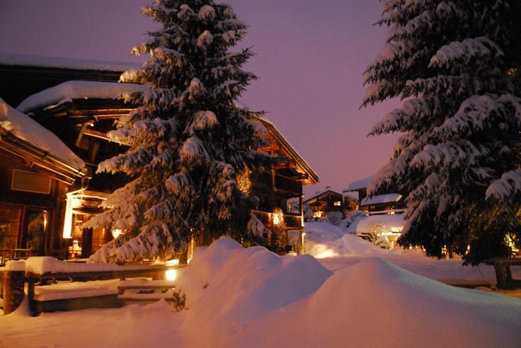 Les Fermes de Marie, Megève // Magie des neige - Snow magic http://en.fermesdemarie.com/376-exteriors-winter.htm