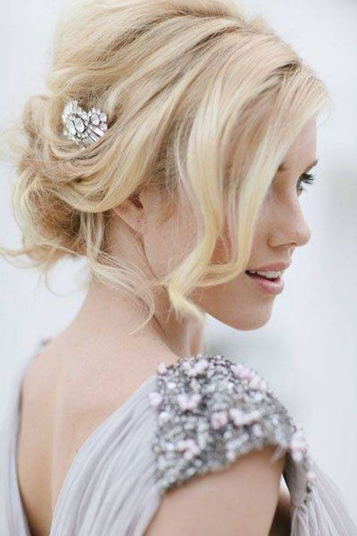 low maintenance hairstyles for thick hair : Low Bun Beach Wedding Hairstyles When he comes along he will be per ...