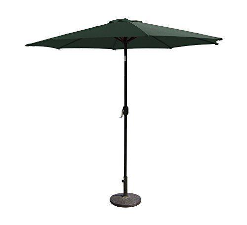 Budge Aluminum Patio Umbrella With Crank Lift And Tilt Function, 7 Ft, Hunter  Green Review | Patio Umbrellas